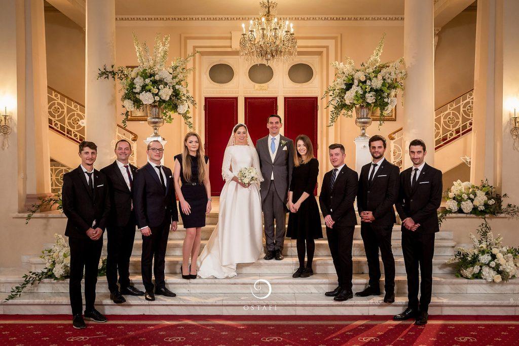 Fotografie de grup la nunta Printului Nicolae al Romaniei